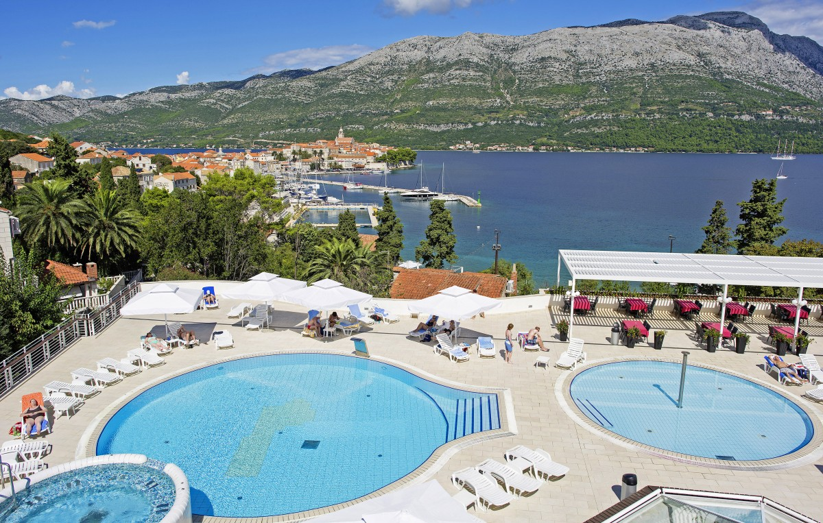hotel marko polo insel korcula dalmatien kroatien i d. Black Bedroom Furniture Sets. Home Design Ideas